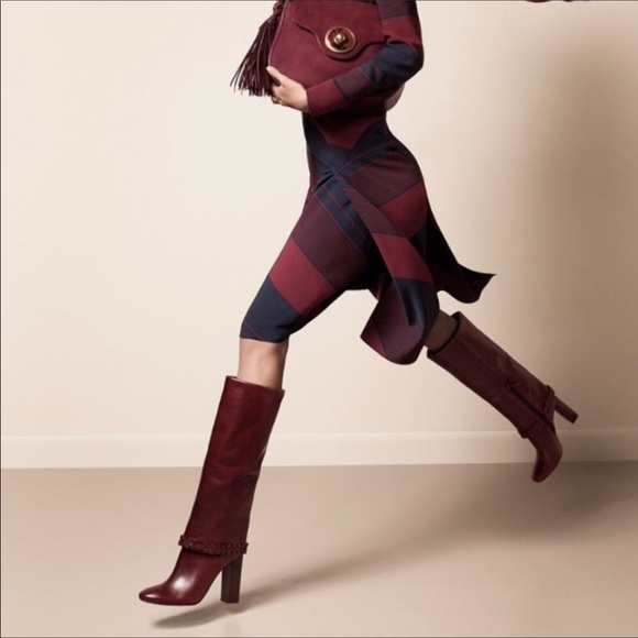 386e9be8b09 Tory Burch Sarava Boot Galleon Leather Red Agate. M 5c7d9f6d4ab633ac87b88ea9